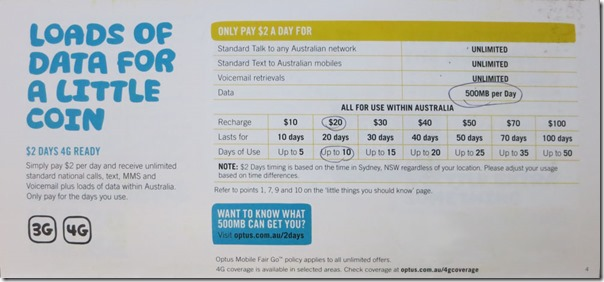 Optus ONLY PAY $2 A DAY