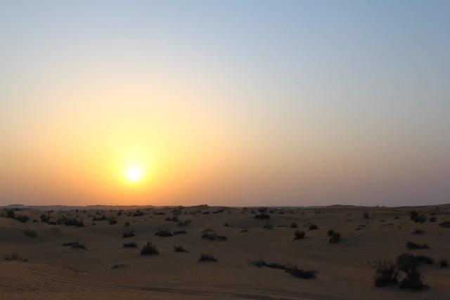ドバイの砂漠
