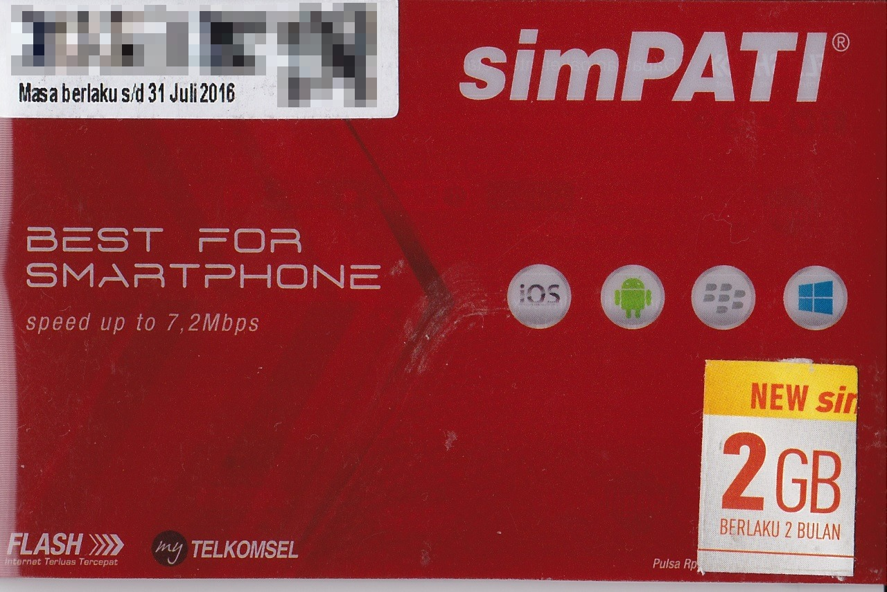 Sim 16 Telkomselsim Telkomsel 2gb