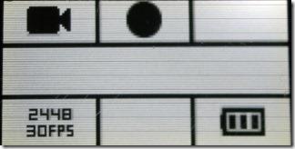 ビデオモードの時の液晶画面