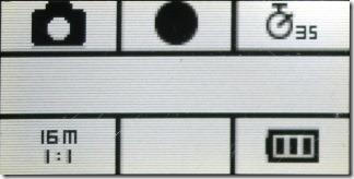 写真モードの時の液晶画面