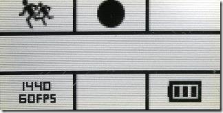 スローモードの時の液晶画面