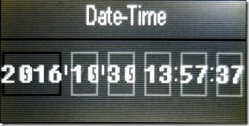 時刻設定の画面