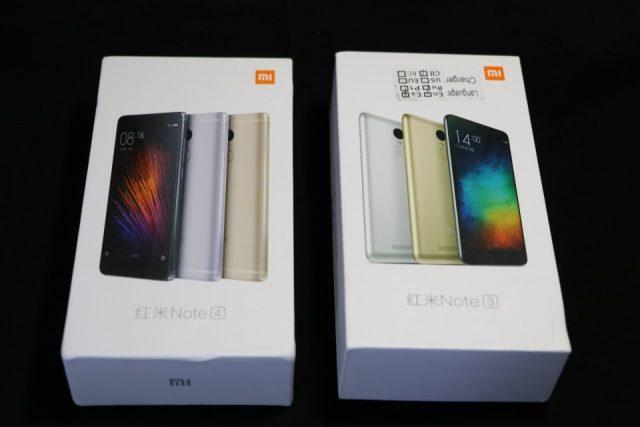 Redmi Note 4とRedmi Note 3 Proのパッケージの比較