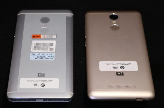 Redmi Note 4とRedmi Note 3 Proの比較 背面