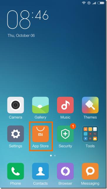 ホーム画面のApp Storeを実行