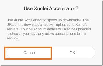 Xunlei Acceleratorの確認