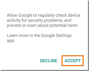 Googleによるセキュリティチェック