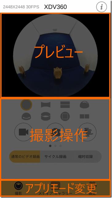 XDV360アプリの画面構成
