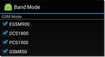 GSMの対応バンド