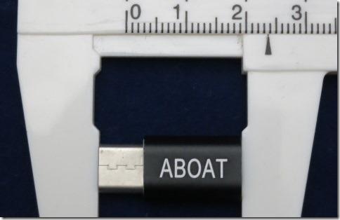 ABOAT USB Type-Cアダプタのサイズ