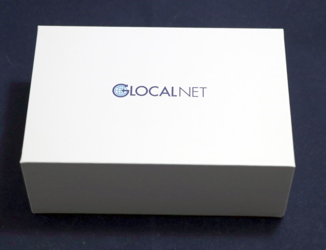 GLOCAL NETのWi-Fiルーターの化粧箱 上面