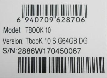 TbookS 10のシール