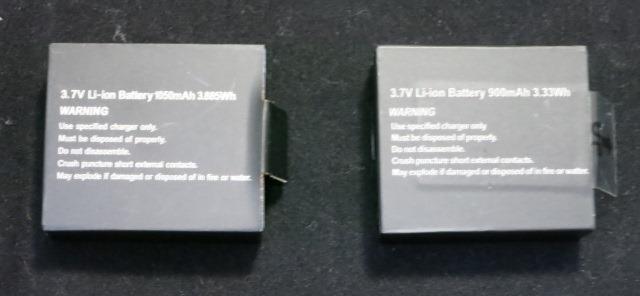 EKEN H9との比較 バッテリー