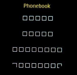 電話帳の表示