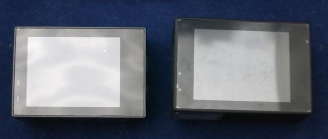 ELECAM Explorer Sとの比較 液晶面