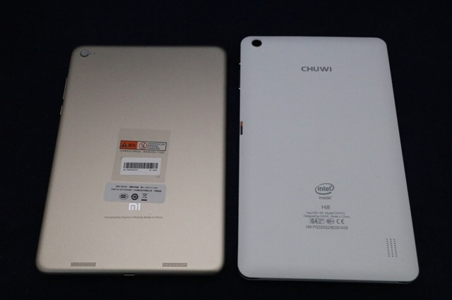 Chuwi Hi8 Prとの比較 (背面)