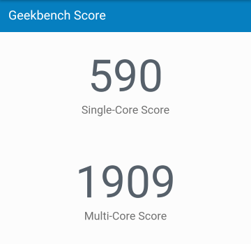 GeekBenchの結果