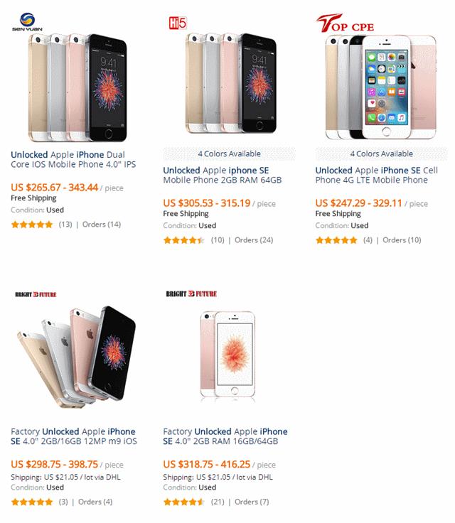 AliExpressのiPhone SE