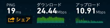 ボーナス追加後のデータ通信速度