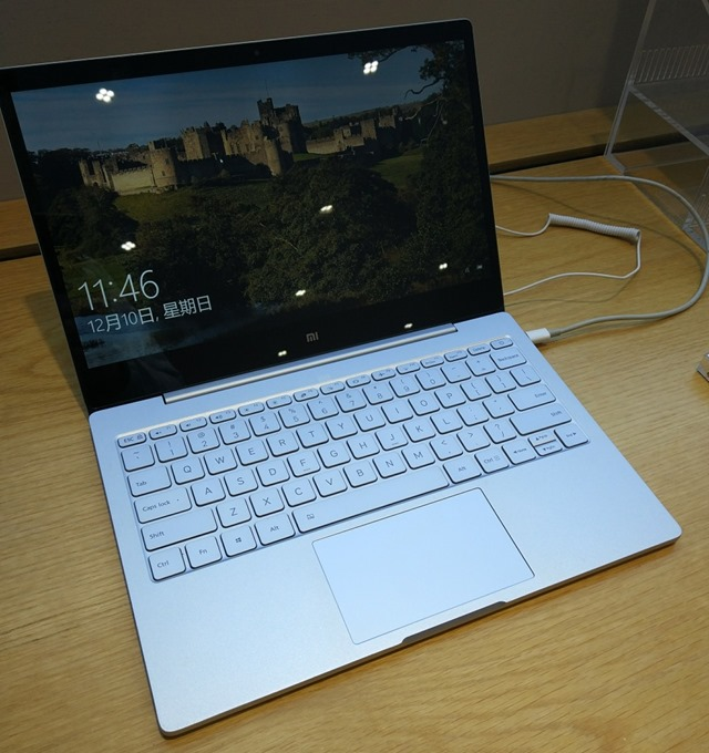 店頭のMi Notebook Air