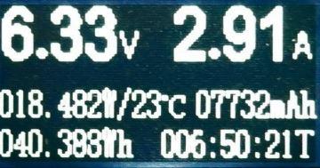 QC3.0での充電状態