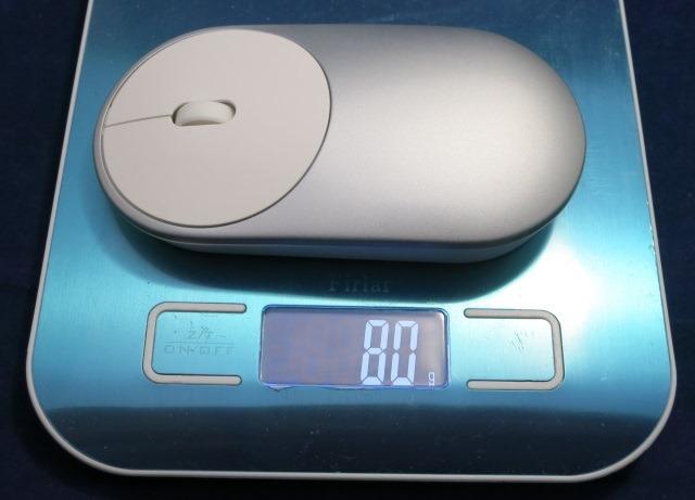 Xiaomiモバイルマウス バッテリー込みの重さ