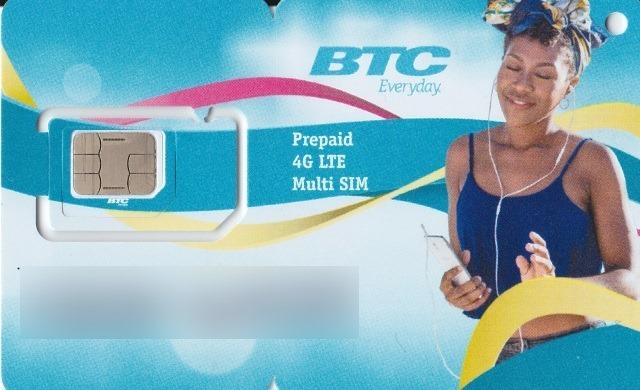 BTCのSIMカード 表