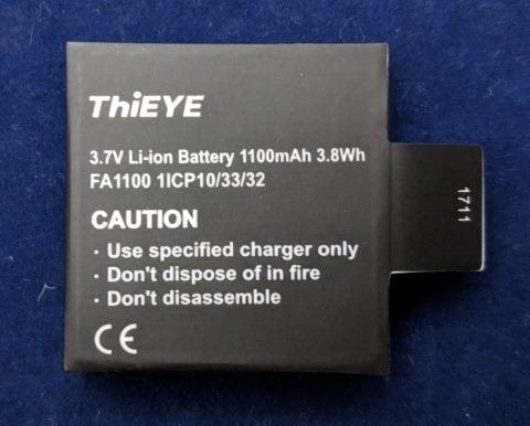 ThiEYE T5 Edgeのバッテリ