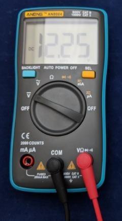 マルチメータで電圧の確認