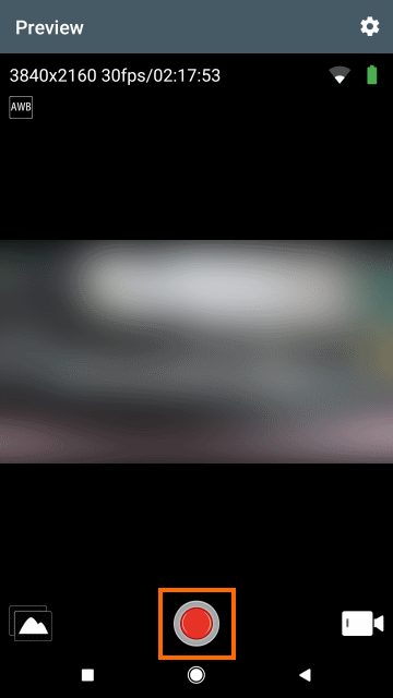 動画の撮影