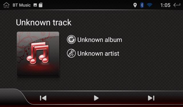 BT Musicの画面