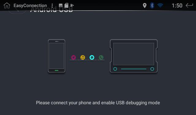 USBケーブルの接続待ち