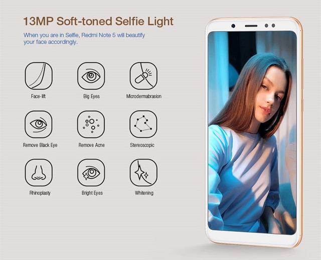 Redmi Note 5のインカメラ機能詳細