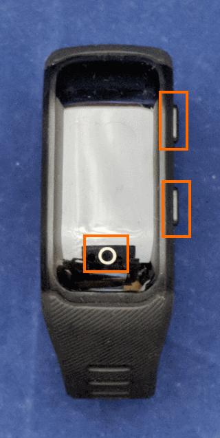 本体の操作ボタン
