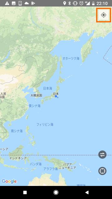 エクササイズ中の地図