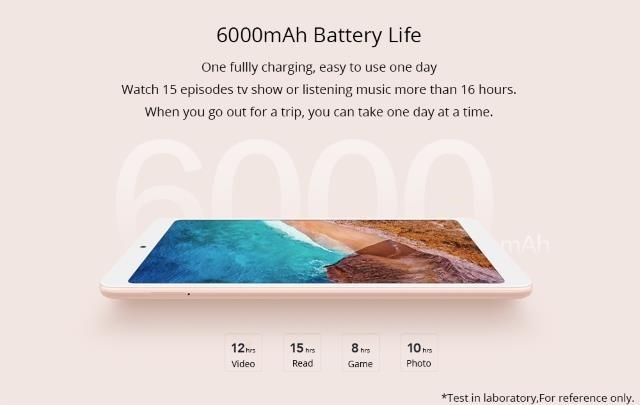 6000mAhのバッテリー