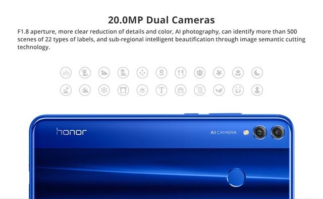 2000万画素のデュアルカメラ