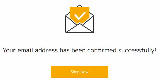 メールアドレスの確認完了