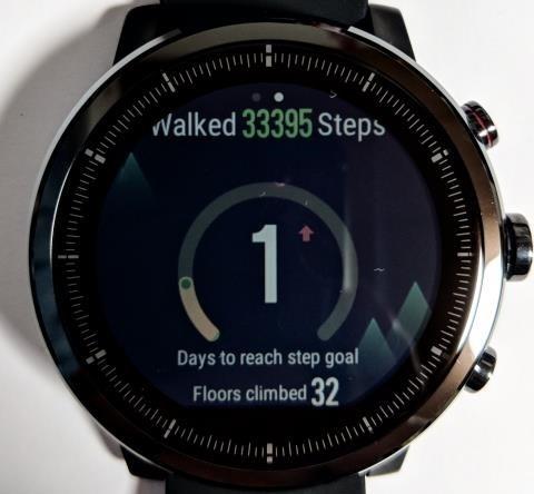 Amazfit Stratos画面: 1週間のステップ数
