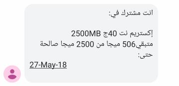 データ残量確認結果 (データ消費後)
