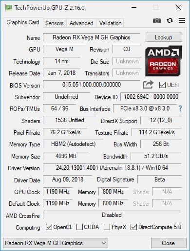 GPU-Z: Radeon