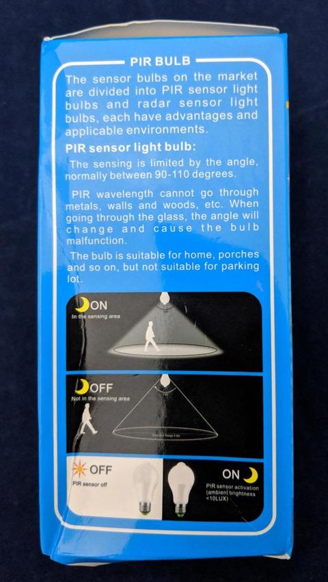 モーションセンサーライトのパッケージ 3