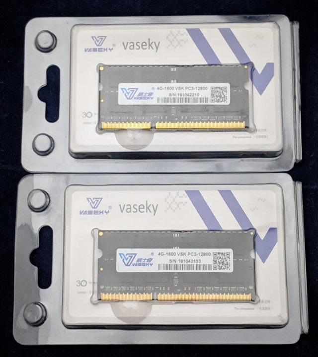 購入したメモリのパッケージ