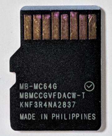 microSDカード 裏
