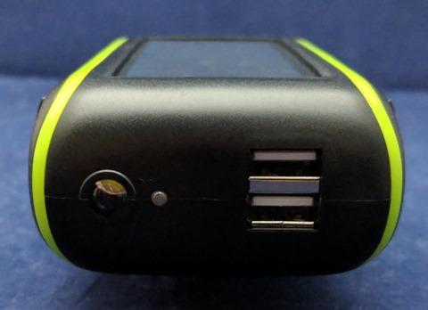 モバイルバッテリー コネクタ面