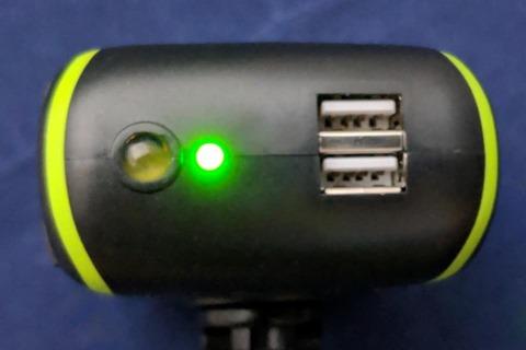 緑色LEDの点灯