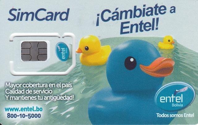EntelのプリペイドSIMカード 表