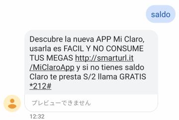 SMSでのステータス確認