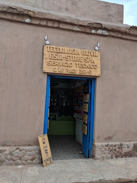サン・ペドロ・デ・アタカマの携帯電話ショップ